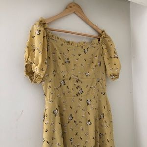 Chicwish Floral Off Shoulder Dress